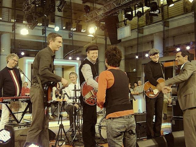 Auftritt von The Groovy Cellar im ZDF-Morgenmagazin, 07.01.2014, mit Dunja Hayali
